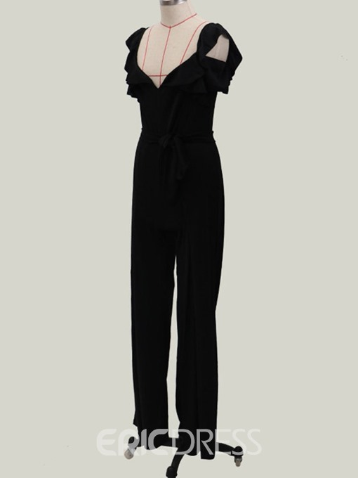 Ericdress Full Length Plain Wide Legs Loose Jumpsuit