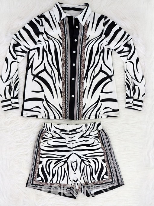 Ericdress Fashion Zebra Stripe Straight Loose Romper