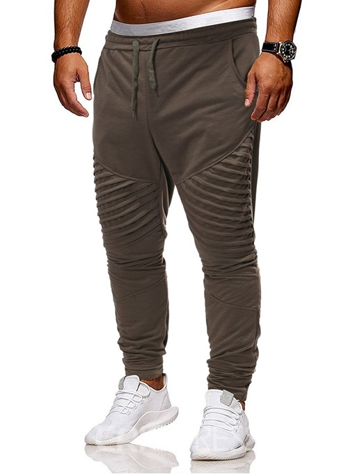 Ericdress Harem Lace-Up Plain Men's Casual Pants