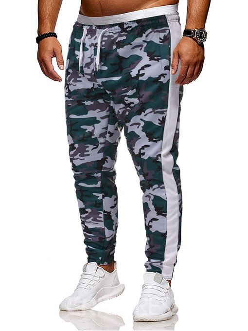 Ericdress Pocket Camouflage Lace-Up Men's Casual Pants