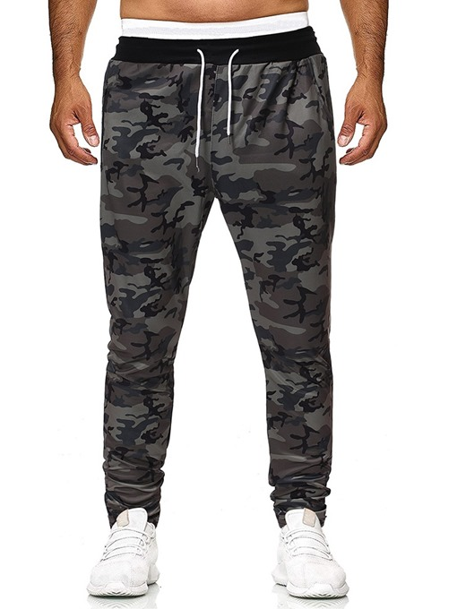 Ericdress Camouflage Pocket Fall Lace-Up Men's Casual Pants