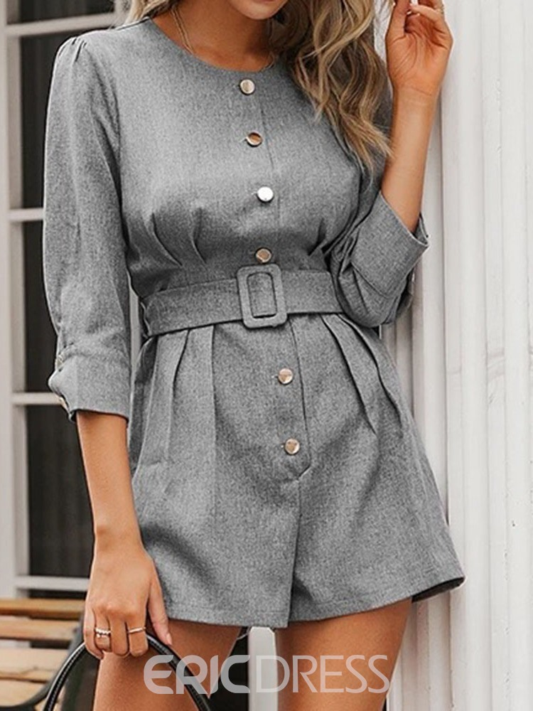 ericdress bouton fashion barboteuse mince