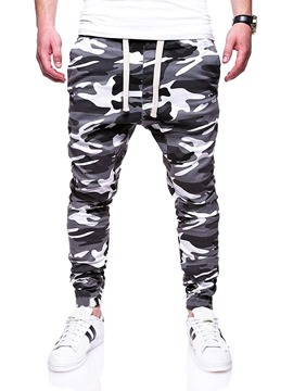 Ericdress Camouflage Pocket Casual Men's Mid Waist Jeans