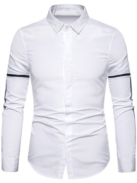 Ericdress Casual Lapel Color Block Men's Single-Breasted Shirt