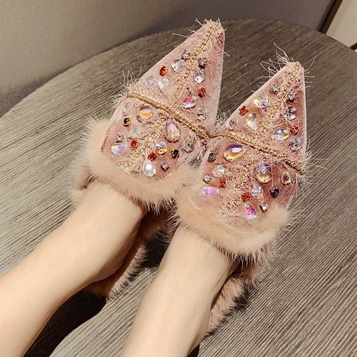 Ericdress Closed Toe Rhinestone Slip-On Women's Mules Shoes