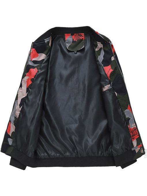 Ericdress Print Stand Collar Letter Men's Casual Jacket
