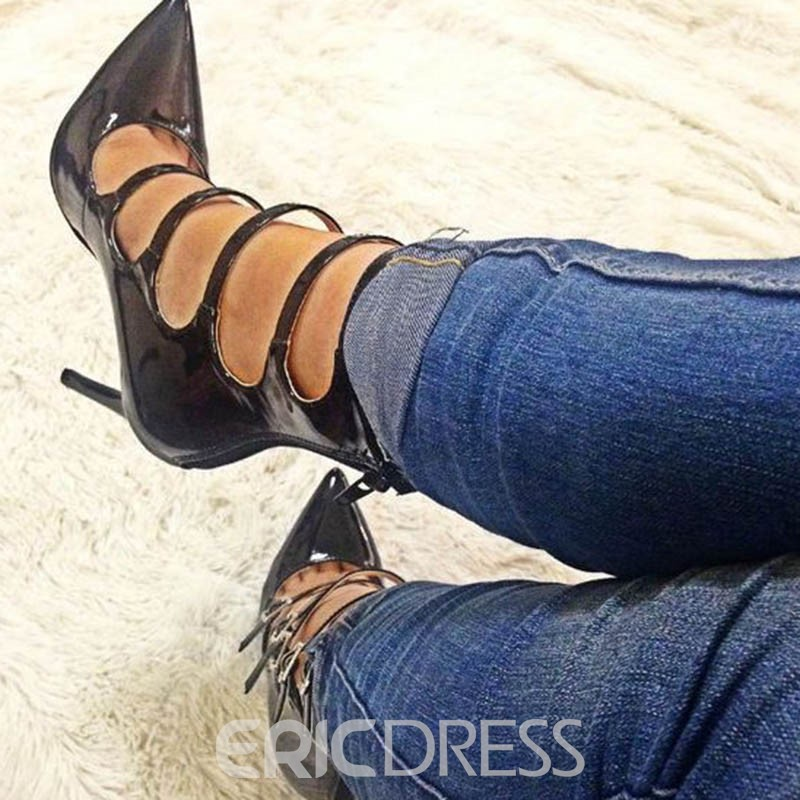 Ericdress PU Pointed Toe Buckle Stiletto Heel Women's Prom Shoes