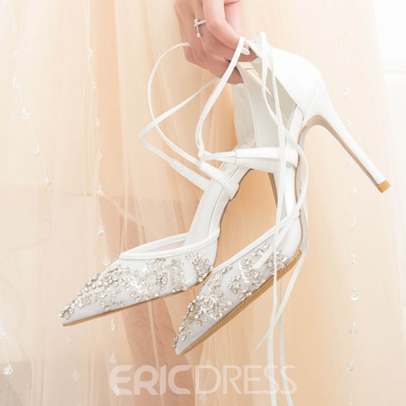 Ericdress Rhinestone Stiletto Heel Pointed Toe Women's Prom Shoes