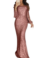Ericdress Floor-Length Long Sleeve V-Neck Ladylike Bodycon Dress фото