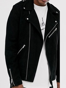 Ericdress Plain Zipper Casual Men's Lapel Jacket