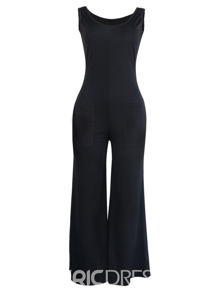 Ericdress Casual Full Length Pocket Loose Jumpsuit