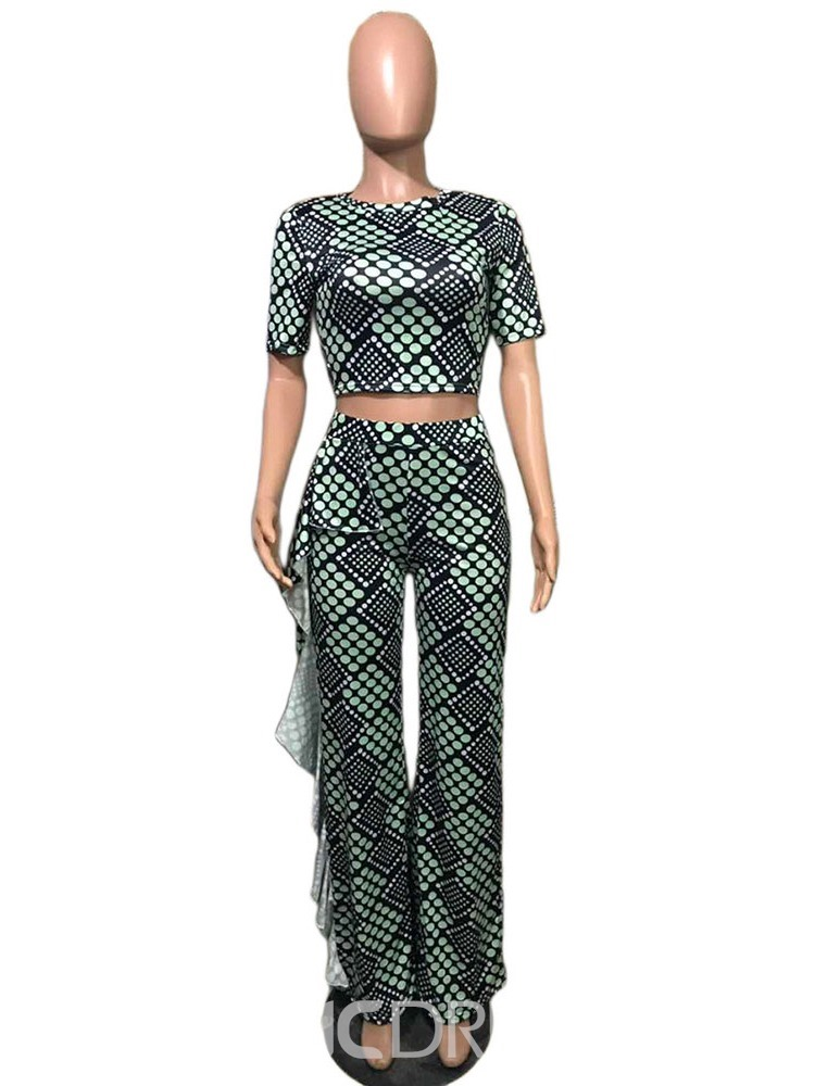 Ericdress Polka Dots Pullover Round Neck Two Piece Sets