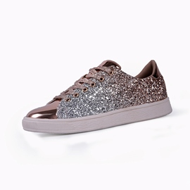 Ericdress Sequin Glit Lace-Up Women's Flats