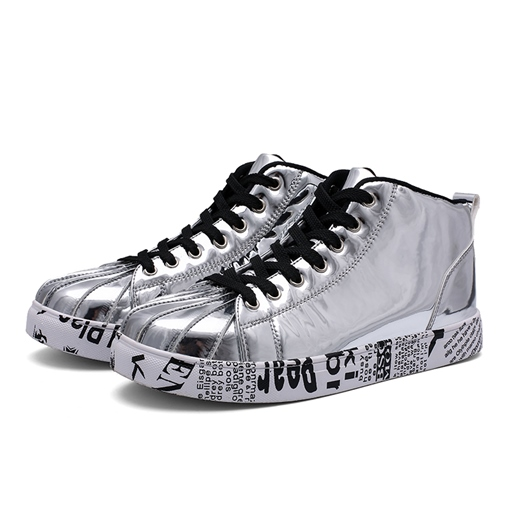 Ericdress Sequin High-Cut Upper Round Toe Lace-Up Women's Casual Sneakers