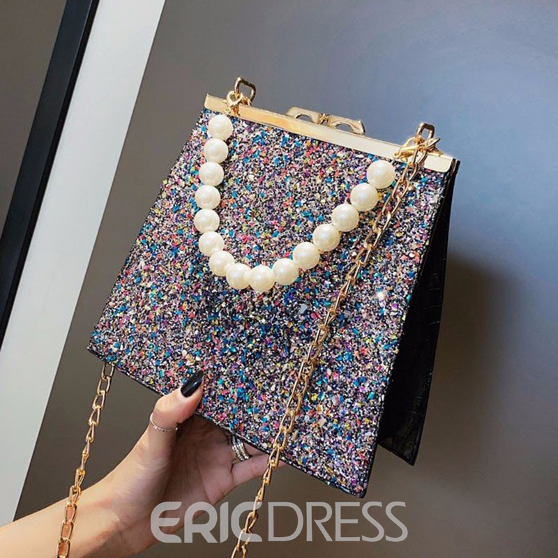 Ericdress Sequins Chain Rectangle Tote Bags