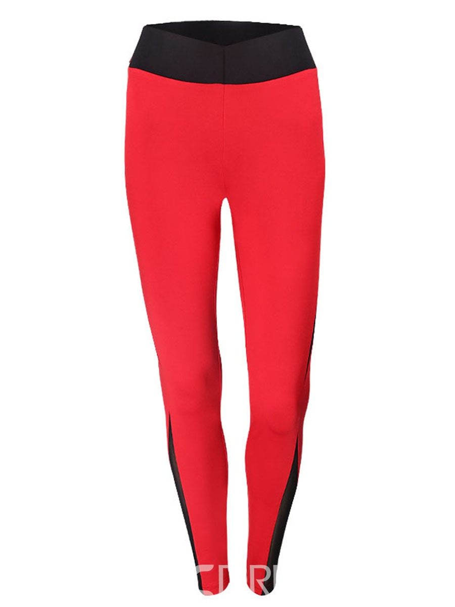 Ericdress Polyester Patchwork Anti-Sweat Color Block Female Fall Pants