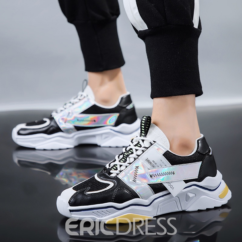 Ericdress Platform Lace-Up Round Toe Men's Sneakers