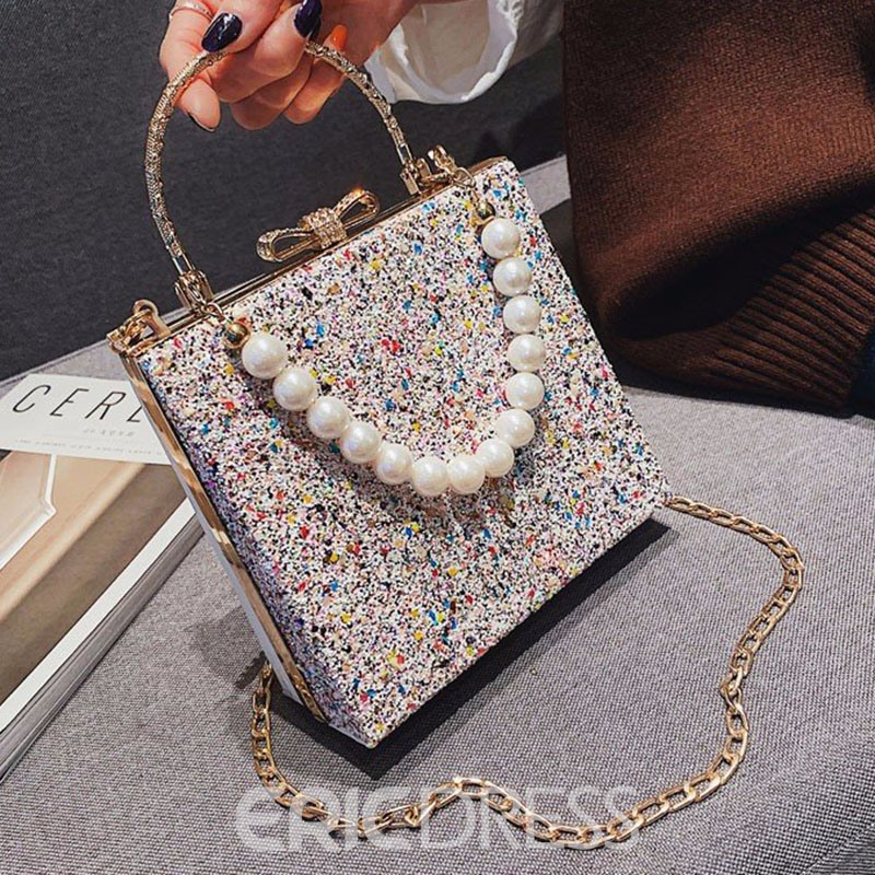 Ericdress Sequin Chain Flap Tote Bags
