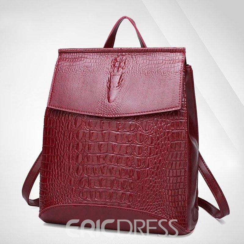 Ericdress PU Thread Alligator Medium Backpacks