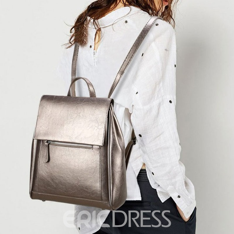 Ericdress Plain Cover Women's Backpacks