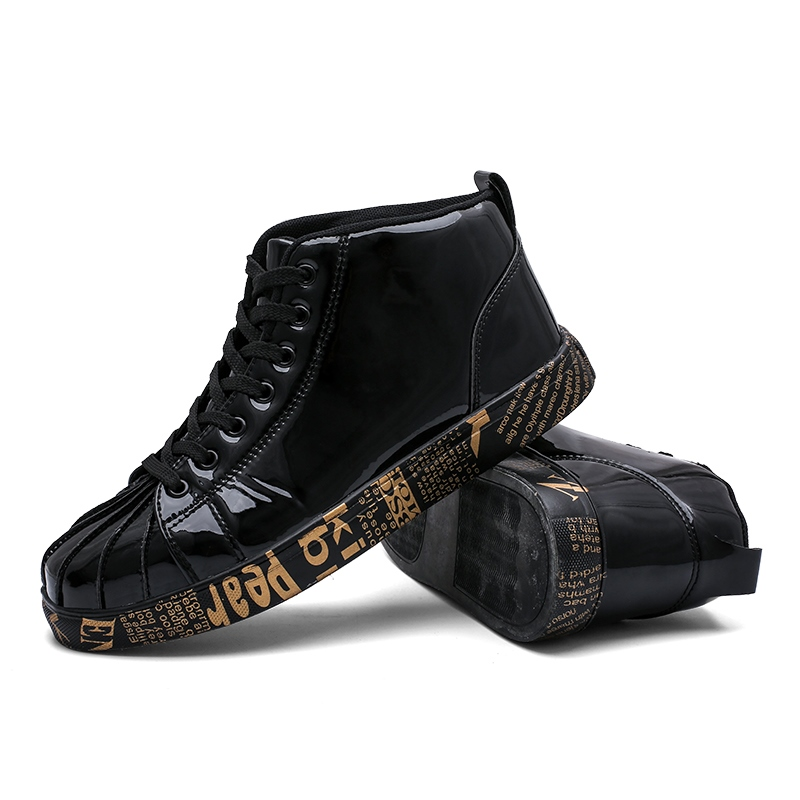 Ericdress Letter Lace-Up Flat With Round Toe Men's Skate Shoes