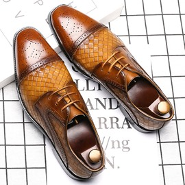 Ericdress Low-Cut Upper Square Toe Men's Dress Shoes