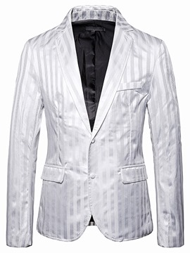 Ericdress Stripe Button Single-Breasted Men's leisure Blazer