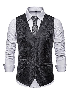 Ericdress Color Block Button Men's Fashion Waistcoat