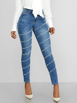 Ericdress Fashion Button Skinny Zipper Jeans