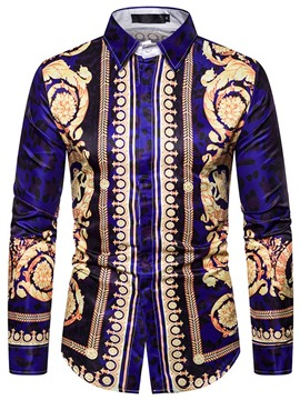 Ericdress African Fashion Dashiki Lapel Men's Single-Breasted Shirt