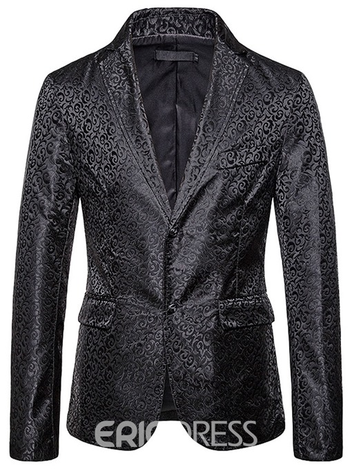 Ericdress Single-Breasted Loose Print Men's leisure Blazer