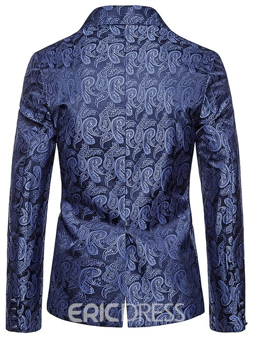 Ericdress Notched Lapel Print Single-Breasted Men's leisure Blazer