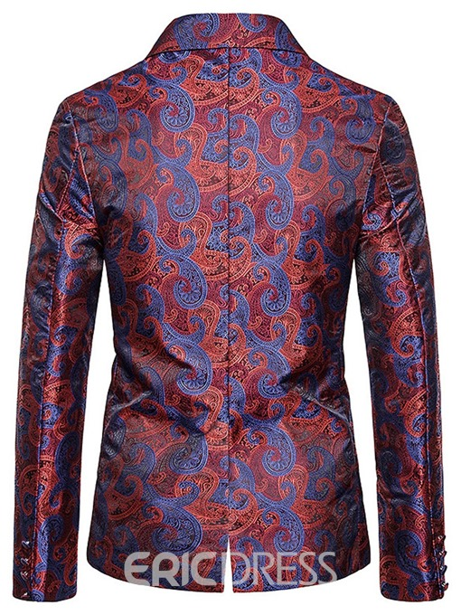 Ericdress Slim Single-Breasted Patchwork Men's leisure Blazer
