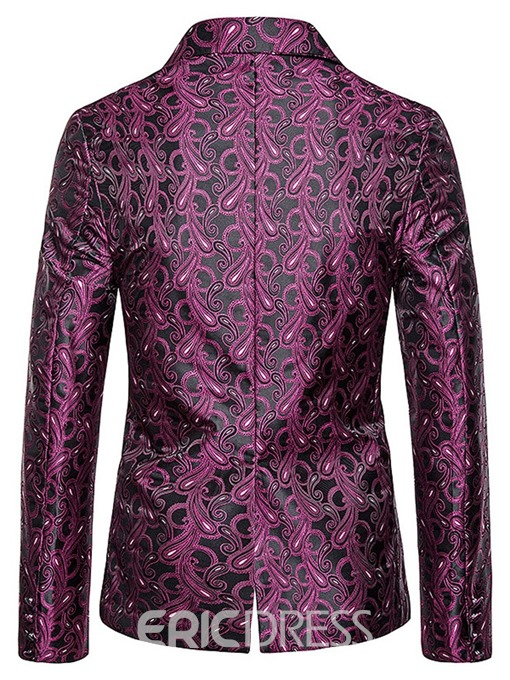 Ericdress Slim Single-Breasted Print Men's leisure Blazer