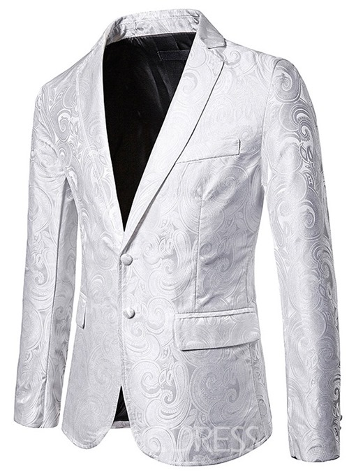 Ericdress Slim Notched Lapel Patchwork Men's leisure Blazer