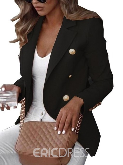 Ericdress Long Sleeve Double-Breasted Notched Lapel Spring Standard Casual Blazer