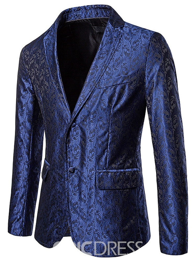 Ericdress Slim Casual Notched Lapel Men's leisure Blazer