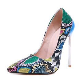 Ericdress Stiletto Heel Serpentine Slip-On Women's Pumps