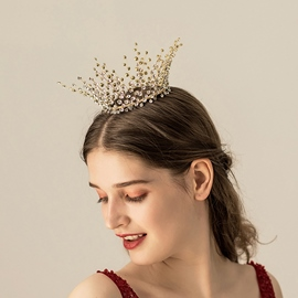 Tiara Diamante Plaid Hair Accessories (Wedding)
