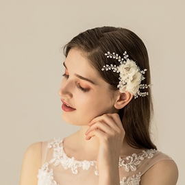 European Hair Comb Floral Hair Accessories (Wedding)