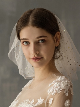 Ericdress Two-Layer Cut Edge Sequins Wedding Veil