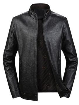 Ericdress Zipper Plain Men's Stand Collar Jacket