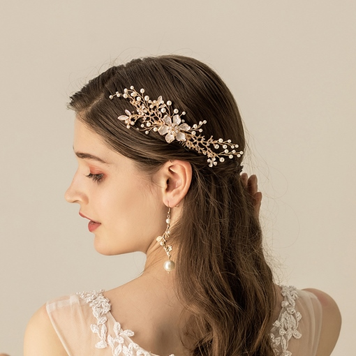 Pearl Inlaid European Hair Comb Hair Accessories (Wedding)