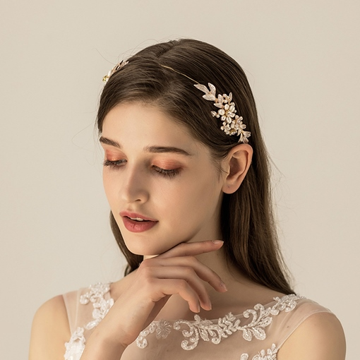 Pearl Inlaid Hairband European Hair Accessories (Wedding)