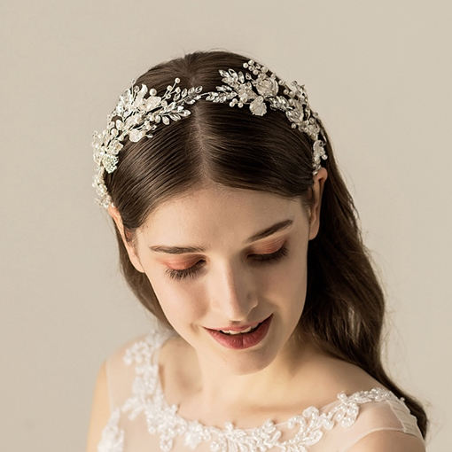 Plaid Diamante Vintage Hair Accessories (Wedding)