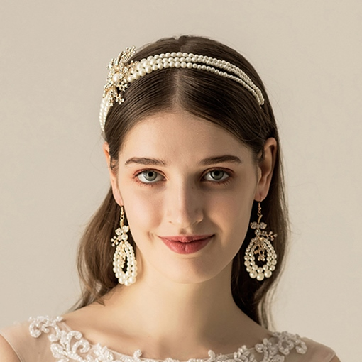 Hairband Floral Pearl Inlaid Hair Accessories (Wedding)
