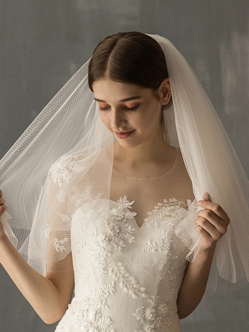 Ericdress Two-Layer Cut Edge Short Wedding Veil 2019