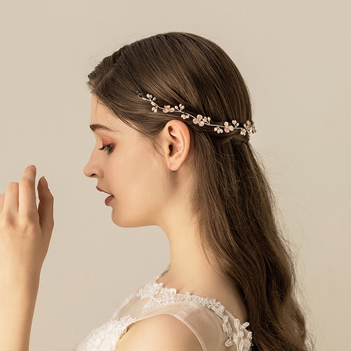 European Pearl Inlaid Hairband Wedding Hair Accessories (Wedding)