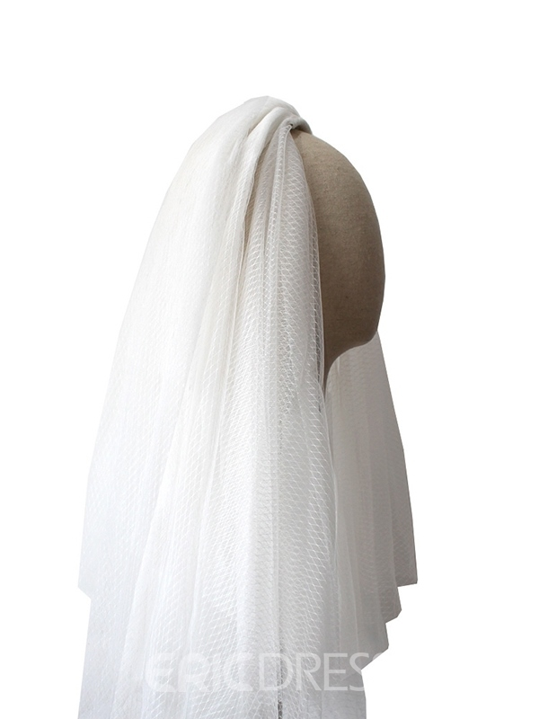 Ericdress Two-Layer Cut Edge Short Wedding Veil