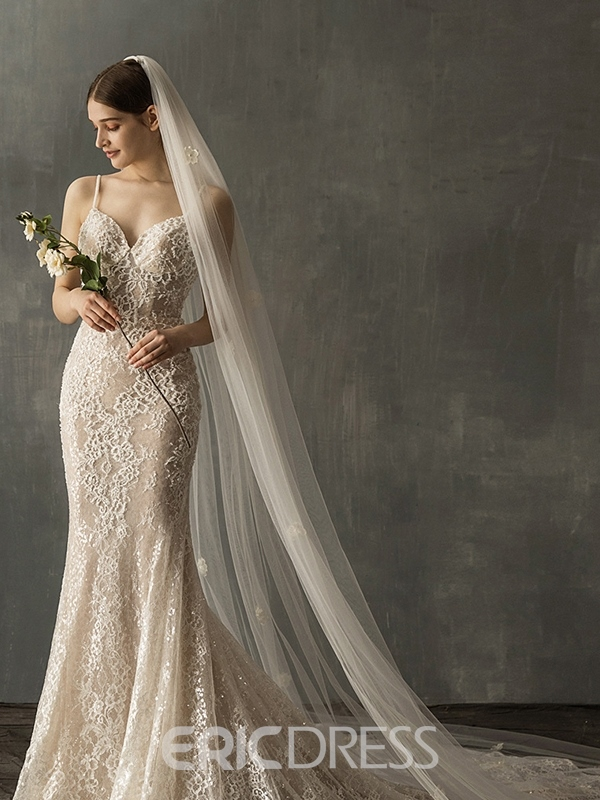 Ericdress Appliques Two-Layer Wedding Veil